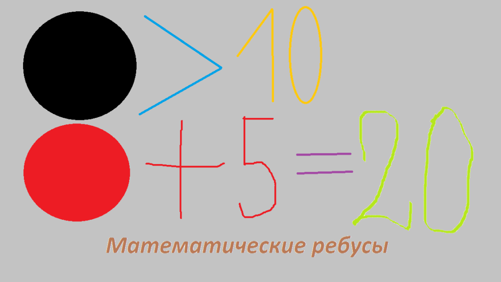 Математические ребусы.