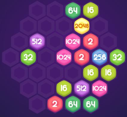 математическая игра соты и числа 2048